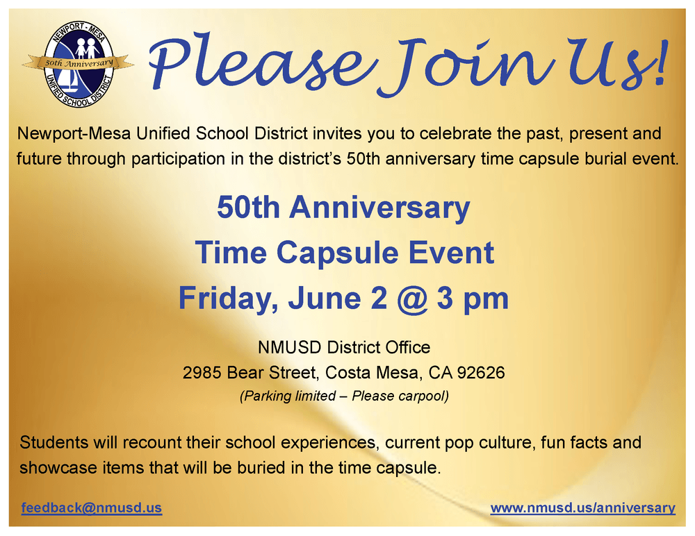 Time Capsule Invitation