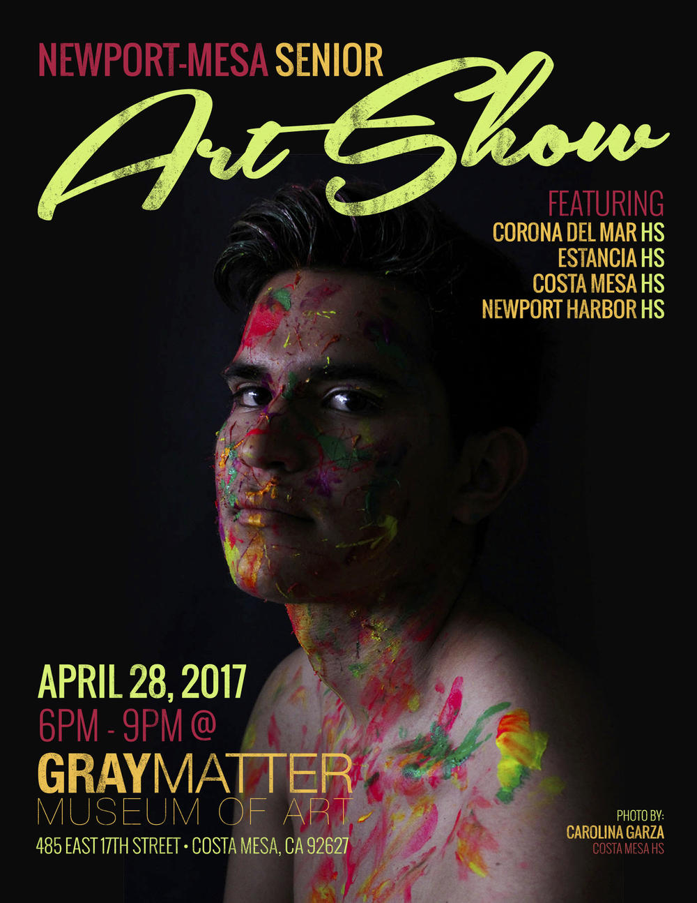 Newport Mesa Senior Art Show Flyer