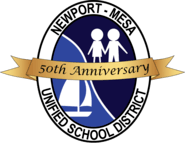 Newport-Mesa Unified School District 50th Anniversary Logo